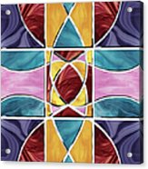 Stained Glass Window Acrylic Print