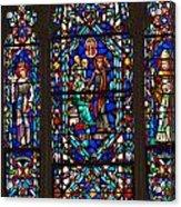 Stained Glass Window Acrylic Print