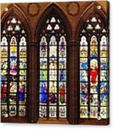 Stained Glass Windows At Saint Josephs Cathedral Buffalo New York Acrylic Print
