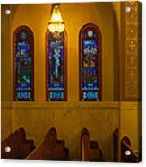 Stained Glass Windows At St Sophia Acrylic Print