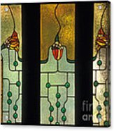 Stained Glass Windows Acrylic Print