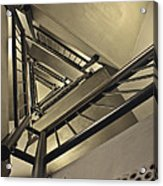 Stairing Up The Spinnaker Tower Acrylic Print