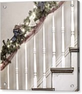 Stairs At Christmas Acrylic Print by Margie Hurwich