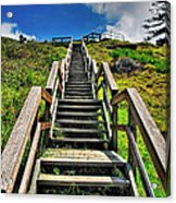 Stairs From The Beach Acrylic Print