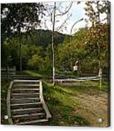 Stairs In The Park Acrylic Print
