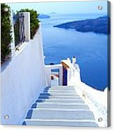 Stairs To The Blue Door Acrylic Print