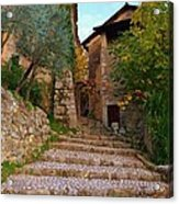 Stairs To The Village Acrylic Print