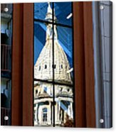 Stairway Dome Reflection Acrylic Print
