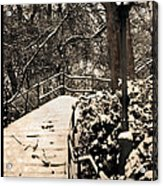 Stairway In Central Park On A Stormy Day Acrylic Print