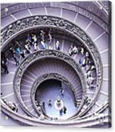 Stairway In Vatican Museum Acrylic Print by Stefano Senise