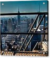 Stairways On Top Of Rockefeller Center Acrylic Print by Amy Cicconi