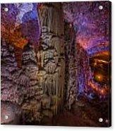 Stalactite Cave Wall Acrylic Print