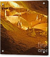 Stalactites And Stalagmites In Cave Ibiza Acrylic Print