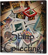 Stamp Colleting Acrylic Print
