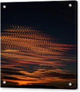 Stamped Sky Acrylic Print by Rod Sterling