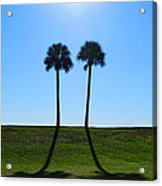 Stand By Me - Palm Tree Art By Sharon Cummings Acrylic Print