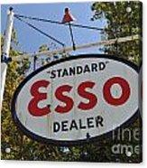 Standard Esso Dealer Acrylic Print