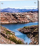 Standing In A Ravine At Lake Mead Acrylic Print