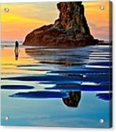 Standing In A Sea Of Blue Acrylic Print