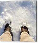 Standing In The Snow Acrylic Print