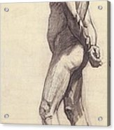 Standing Male Nude Acrylic Print by Felix Edouard Vallotton