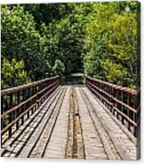 Standing On A Bridge Acrylic Print