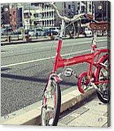 Standing Red Bike Acrylic Print