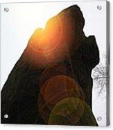 Standing Stone At Gardom's Edge Acrylic Print