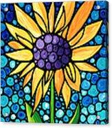Standing Tall - Sunflower Art By Sharon Cummings Acrylic Print