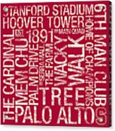 Stanford College Colors Subway Art Acrylic Print