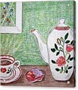 Stangl Pottery Rose Pattern Acrylic Print