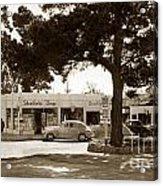 Stanifords Drug Store Ocean Ave.cor San Carlos Carmel Circa 1941 Acrylic Print