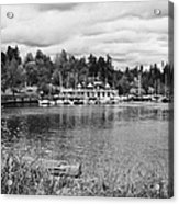 stanley park coal harbour and Vancouver rowing club marina BC Canada Acrylic Print