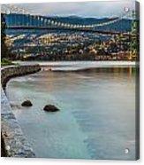 Stanley Park Seawall View Acrylic Print
