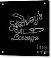 Stanley's Lounge In White Neon Acrylic Print