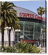 Staples Center In Los Angeles California Acrylic Print