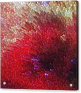 Star Burst - Red Abstract Art By Sharon Cummings Acrylic Print