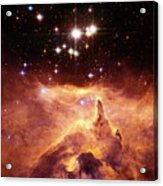 Star Cluster Pismis 24 Above Ngc 6357 Acrylic Print