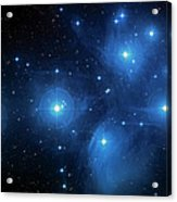 Star Cluster Pleiades Seven Sisters Acrylic Print by Jennifer Rondinelli Reilly - Fine Art Photography