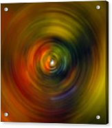 Star Cradle Spin Art Acrylic Print
