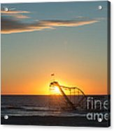 Star Jet Sunrise Silhouettte Acrylic Print