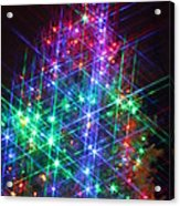 Star Like Christmas Lights Acrylic Print