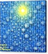 Star Of Bethlehem Acrylic Print