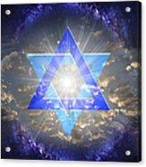 Star Of David And The Milky Way Acrylic Print
