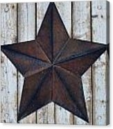Star On Barn Wall Acrylic Print