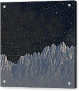 Star Shine Organ Mountains Acrylic Print