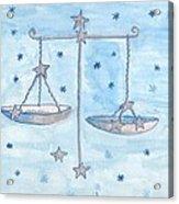 Star Sign Libra Acrylic Print