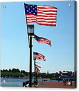 Star Spangled Banner Flags In Baltimore Acrylic Print