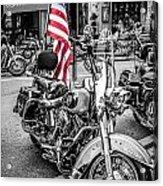 Star Spangled Harley Acrylic Print