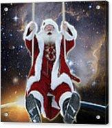 Santa's Star Swing Acrylic Print